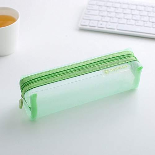 Suang Originele Transparante Student Pen Pencil Case Nylon Mesh Pouch Make-up Tassen Opslag Rits Eén maat GG