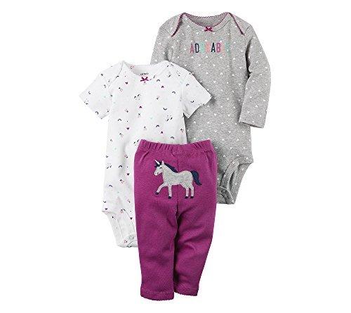 Carter's Baby Girls' 3 Piece Unicorn Set Newborn