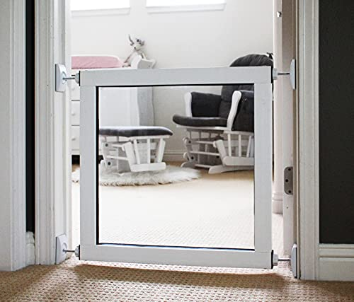 ClearVis Stepover Gate | Pet Gate | Stepover Gates for Stairs, Doorways, Play Area | Dog Gate | Pet Safety | Small to Extra Wide Options | Indoor or Outdoor | 18' Height, 26'-31' Width Range