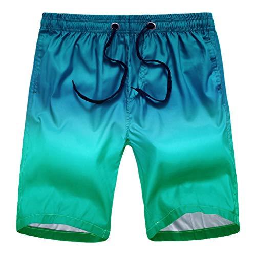 IFOUNDYOU Herren Badeshorts, Shorts Männer Sommer Mode Hawaii Kurze Hose Badehosen Schnelltrocknende Knielang-Strandhose Farbverlauf Fitness Sporthose Günstig Surf Urlaub Schwimmhose
