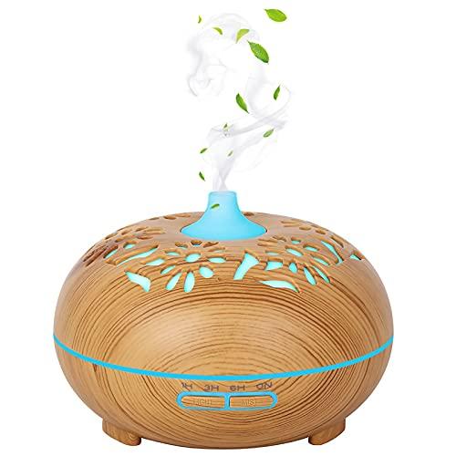 FOGARI Difusor Aceites Esenciales,Lámpara Difusora de 7 Colores Difusor Aroma Humidificador, 500ml Ultrasónico Silencioso Difusor,para Oficina,Dormitorio,SPA