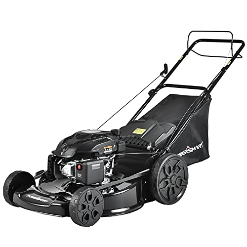PowerSmart Lawn Mower, Gas Lawn Mower, 22-inch Push Mower, 200cc Self Propelled Lawn Mower, 5-Position Height Adjustment, 3-in-1 Lawnmower Gas, PSM2022