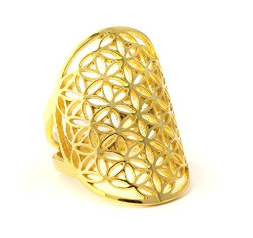 vergoldeter Silberring - Lebensblume (56 (17.8))