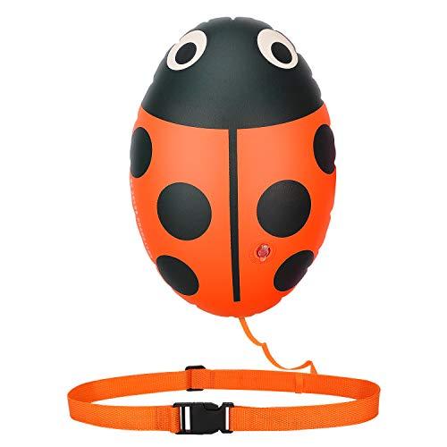 HeySplash Boya de Natacion, Dispositivo de Flotación de Natación en Aguas Abiertas, Flotador de Seguridad de Natación para Nadadores Triatletas Kayakistas Buceadores - Naranja