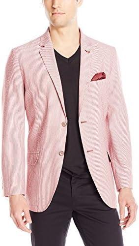 Ben Sherman Men's Two Button Dual Stripe Blazer