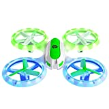 Force1 UFO 3000 LED Mini Drone for Kids - Remote Control Drone, Small RC Quadcopter for Beginners with 2 Drone Batteries
