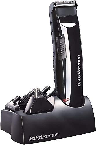 BaByliss Multi 6 en 1 E823E - Kit multifunción para cabello y barba con recortador para nariz y orejas