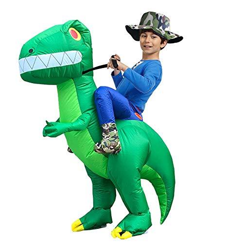 Dinosaurio Inflables Divertido, Traje De Dinosaurio De Equitación Halloween, Navidad Spoof Props Cosplay Fantasy Costume Para Niños modern