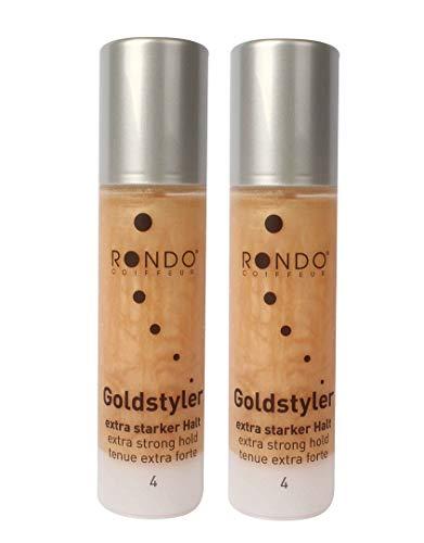 Rondo Goldstyler Haargel 100ml Schimmerndes Perlglanzgel (2 Stück)