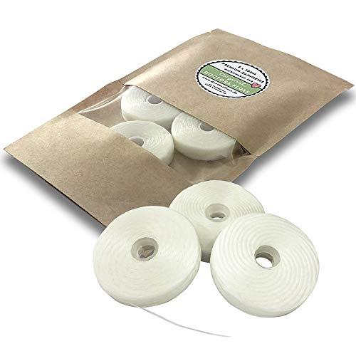 DOCTORS Floss 3 x 100m Zahnseide Nachfüllpack, leicht gewachst, dünn, Minze, 3 Spulen Nachfüller für Dose, nachhaltig, umweltfreundlich, Refill