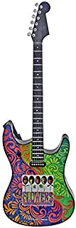 Flowers Musical Guitar Ornament Plays Rolling Stones' Ruby Tuesday