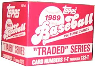 1989 Topps Traded Series Baseball Set - 132 CARDS WITH KEN GRIFFEY JR & RANDY JOHNSON ROOKIES FREE SHIPPING