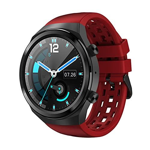 KMF SmartWatch 2021 es Adecuado para Android Bluetooth Call Smart Watch Men's Ipx7 Impermeable 30 días en Espera Tasa del corazón a la presión Arterial Fitness,G