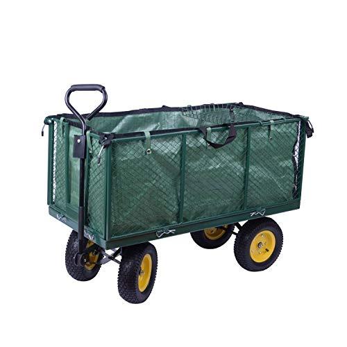 miozzi Carretto Carrello a Mano da Giardinaggio in Acciaio 128x62x84 cm