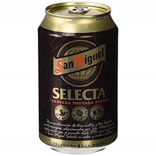 San Miguel Selecta Cerveza Premium Dorada Lager, 6.2% de Volumen de Alcohol - Lata de 33 cl