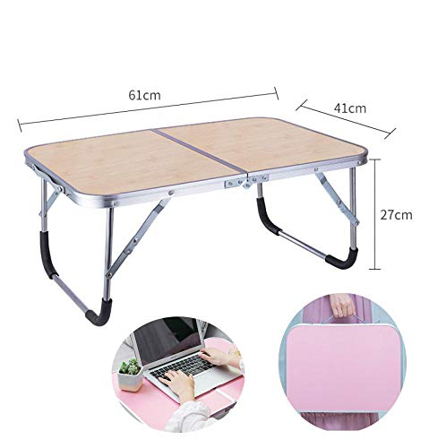 ZLALF Childrens Picnic Table,Portable Folding Small Table,with Aluminum Table Top And Handle,for Garden, BBQ, Picnic Party,Wood