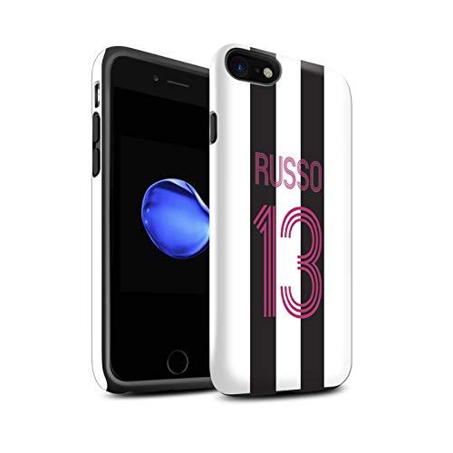 Stuff4 Telefoonhoesje/Cover/Skin/IP-3DTBG / Aangepaste Euro Football Club Shirt Kit Collectie Apple iPhone SE 2020 Zwarte witte strepen