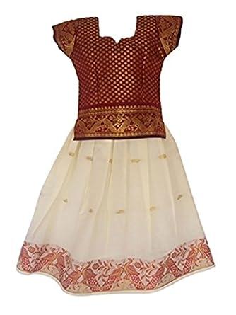 PKD Girl's Poly Cotton Lehenga Choli