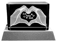 SETANGEBOT: Glasquader im außergewöhnlichen Facettenschliff (Abmessung 8 x 5 x 5 cm), inklusive LED Untersetzer als außergewöhnliche Geschenkidee mit liebevoller Lasergravur Der batteriebetriebene (kabellos), silberfarbene LED Untersetzer (Abmessung ...