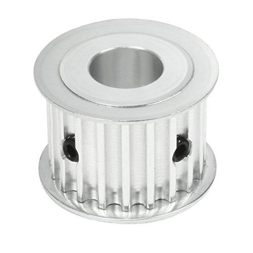 sourcing map Synchrone Roue 20 dents alésage 14mm Courroie en aluminium largeur 21mm ceinture