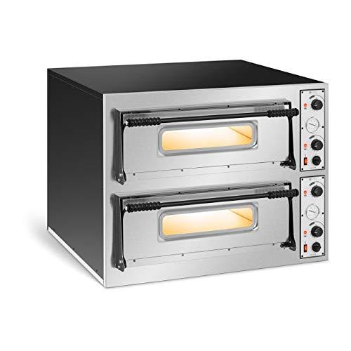 Royal Catering Forno Elettrico Professionale per Pizza Forno per Pizzeria RC-POB44 (2 camere, 8 x Ø 32 cm)