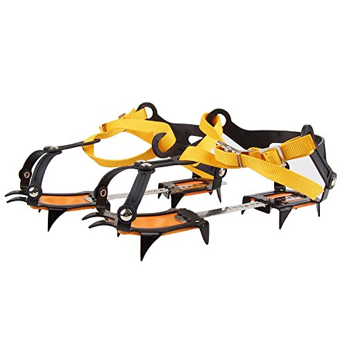 WINGONEER WINGONEER 10 Zähne kommt mit Snowboard Schweißen Kette Edelstahl Steigeisen Outdoor Ski EIS Wandern Klettern Verstellbare Länge