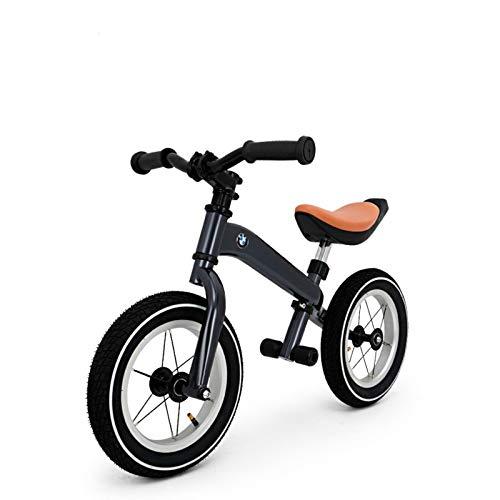 JMSL 2021 BMW Bicicleta de Balance de Ciclo de Acero al Carbono de Alta Gama BMW para niños para niños-Gray,Kids' Bike,12'