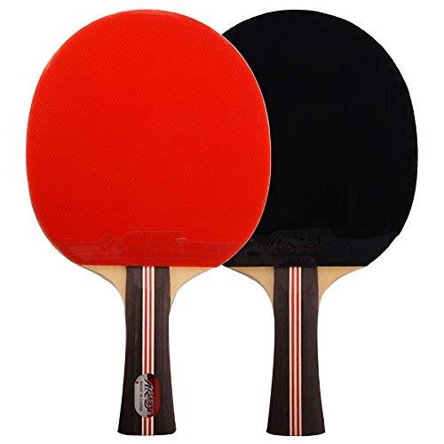Lerten Palas de Ping Pong,Raquetas de Tenis de Mesa de 3 Estrellas Adhesivo Inverso de Doble Cara Ideal para NiñOs Adultos Actividades en Interiores Y Exteriores/A/mango largo