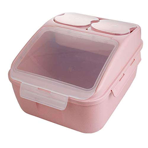 WWJHH-Food storage box BoîTe De Rangement De Cuisine RéCipient De Nourriture -Fully Sealed - Household Rice Barrel/Noodle Barrel Can Be Loaded with 10kg - Large Capacity