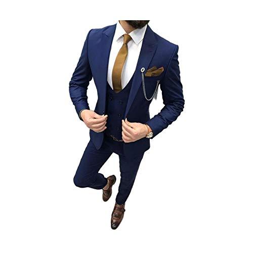 Outwear 3 piezas de trajes para hombre para boda chaleco de