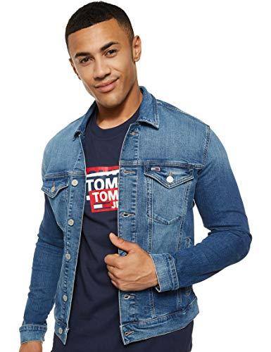 Tommy Hilfiger Regular Trucker Jacket Dvmd Chaqueta, Azul (Devi Mid Bl Co 1a4), XX-Large para Hombre