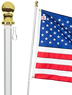 Best aluminum flag pole for house Reviews
