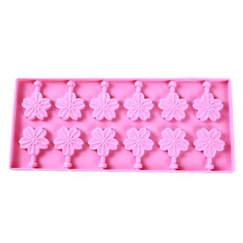 Yeucan Bricolage Moule en Silicone Vache Fleur De Cerisier Ronde Chat Fondant Au Chocolat Fudge Moule Cuisson Ustensiles De Cuisson, Fleur De Cerisier Rose