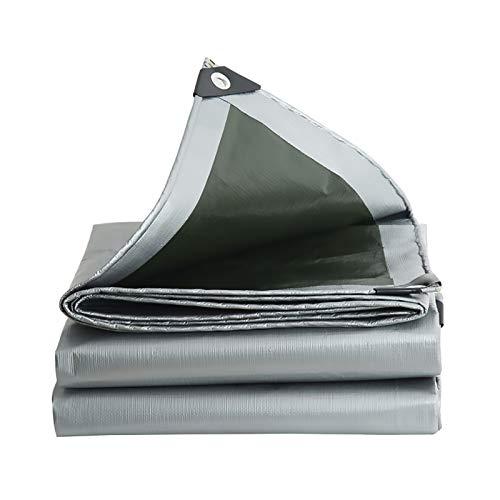 Lona de Protección Resistente al Agua Resistente a la Rotura con Ojales Reforzado Cubierta Toldo para Exterior Muebles de Jardín Vehículos Piscina Madera, Personal Personalizar ( Size : 3.8x4.8m )