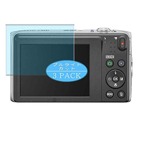 Vaxson Protector de pantalla anti luz azul compatible con Nikon COOLPIX S3600, protector...