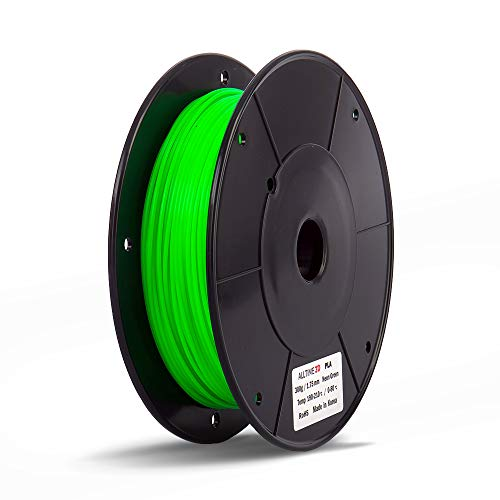 PLA 3D Printing Filament - ALLTIME3D - Neon Green 300g (0.66lbs) - 1.75mm Dimensional Accuracy +/- 0.05mm 3D Printer Pen for Professional. World Leader in alltime 3D Filament (Neon Green)