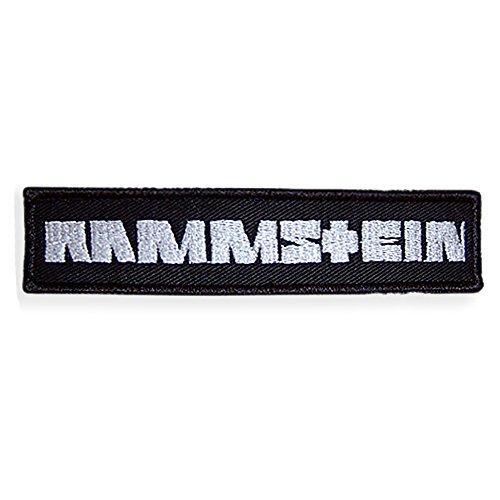 Rammstein Aufnäher Patch weiß 12,8 x 2,9 cm, Offizielles Band Merchandise