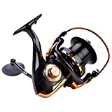 Spinning Reel, Casting Fishing Reel, 12+1BB High Speed Metallic Fishing Reel Wheel Tackle Accessories, Lightweight, Durable & Sturdy, Incredibly Smooth, Powerful, Ultralight Spinning Reels