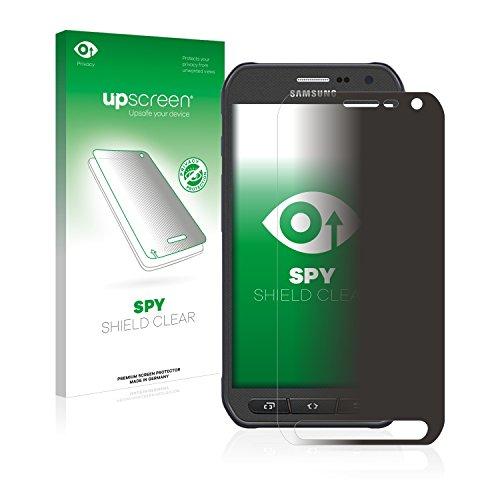 upscreen Anti-Spy Blickschutzfolie kompatibel mit Samsung Galaxy S6 Active SM-G890A Privacy Screen Sichtschutz Bildschirmschutz-Folie