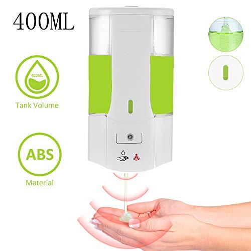 YChoice365 Dispensador Jabon Automático, 400 Ml Dosificador Gel Hidroalcoholico con Ventana Transparente, Dispensador De Jabón Sensor Montado Pared Desinfectante Manos Pequeño para Inodoro