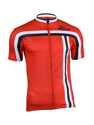 Rogelli Radsport Brescia - Maillot de Ciclismo para Hombre, Color Rojo, Talla...