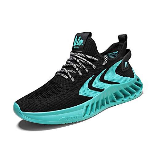 Zapatos Hombre Deporte de Baloncesto Sneakers de Malla para Correr Zapatillas Antideslizantes