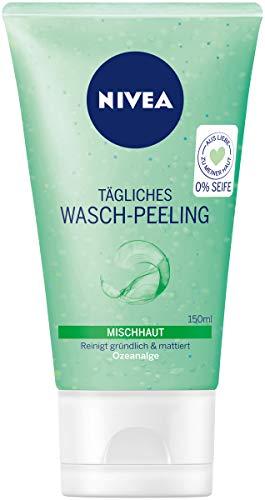 Nivea Tägliches Wasch-Peeling für Mischhaut, 6er Pack (6 x 150 ml), reinigt gründlich und mattiert