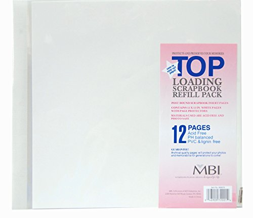 MCS MBI 12x12 Inch Scrapbook Expansion Page Refills, 6 Count (899676) 12 pages.
