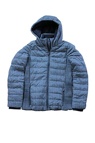 Sublevel Damen Winterjacke mit Kapuze & Stehkragen | Kapuzenjacke | Warme Steppjacke mit geräumigen Taschen (XS, dunkelgrau)
