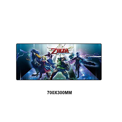 Twhoixi Zelda Mouse Pad Big Computer Mats Rubber Mouse Pad Large Keyboard Game PC Bescherming Game Mouse Pad Eén maat seiu151957
