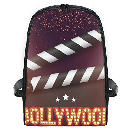 ELIENONO Bollywood indisches Kino-Film-Fahnen-Plakat,Laptop Rucksack für Männer Schulrucksack Multifunktionsrucksack Mini Tagesrucksack für Schule Wandern Reisen Camping