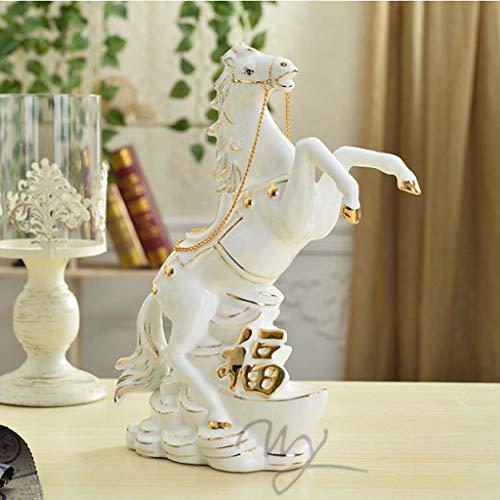 WYJW Decoratie Lucky keramische paardendecoratie ambachten creatieve veranda lucky desk wijnkast kantoorkast decoratie ornamenten gift high-end sieraden (grootte: 23 * 10 * 30cm)
