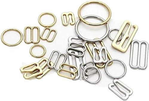1//3 8mm Gold Alloy Hooks Premium Jewelry Quality Bra Adjusters 8mm Bra Making Bramaking