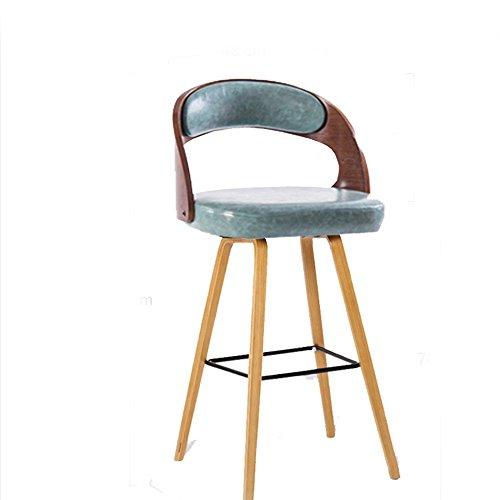 MEIDUO Durable Selles Chaises de bar en bois massif Retro Low Back Chairs avec des coussins de nombreux types de couleurs pour intérieur extérieur (Couleur : Blue (PU))
